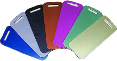 Anodized Aluminum Luggage Tags